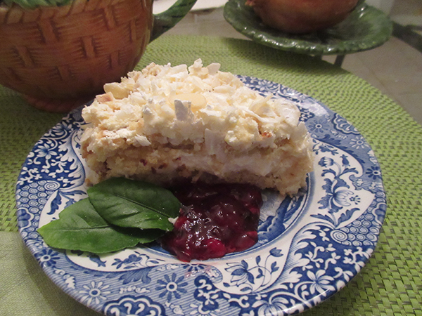 Almond Coconut Cake with Cherry Compote | Insightful Nutrition